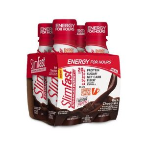 ( Pack of 24 ) SlimFast Advanced Energy Meal Replacement Shakes Rich Chocolate